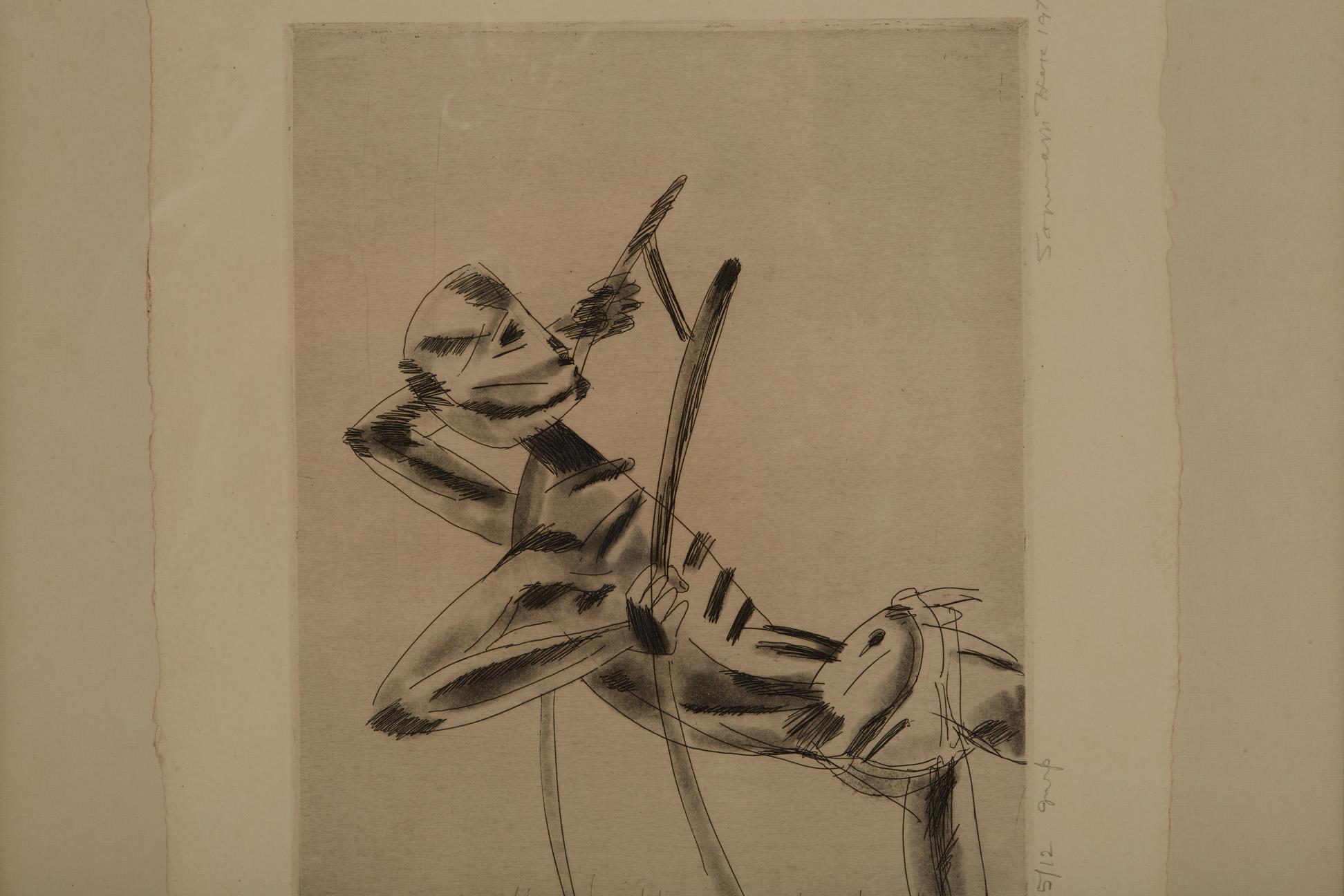 SOMNATH HORE (INDIAN, 1921-2006) - UNTITLED - Image 5 of 5