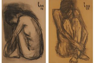 TRAN LUU HAU (VIETNAMESE, B.1928) - SEATED NUDES