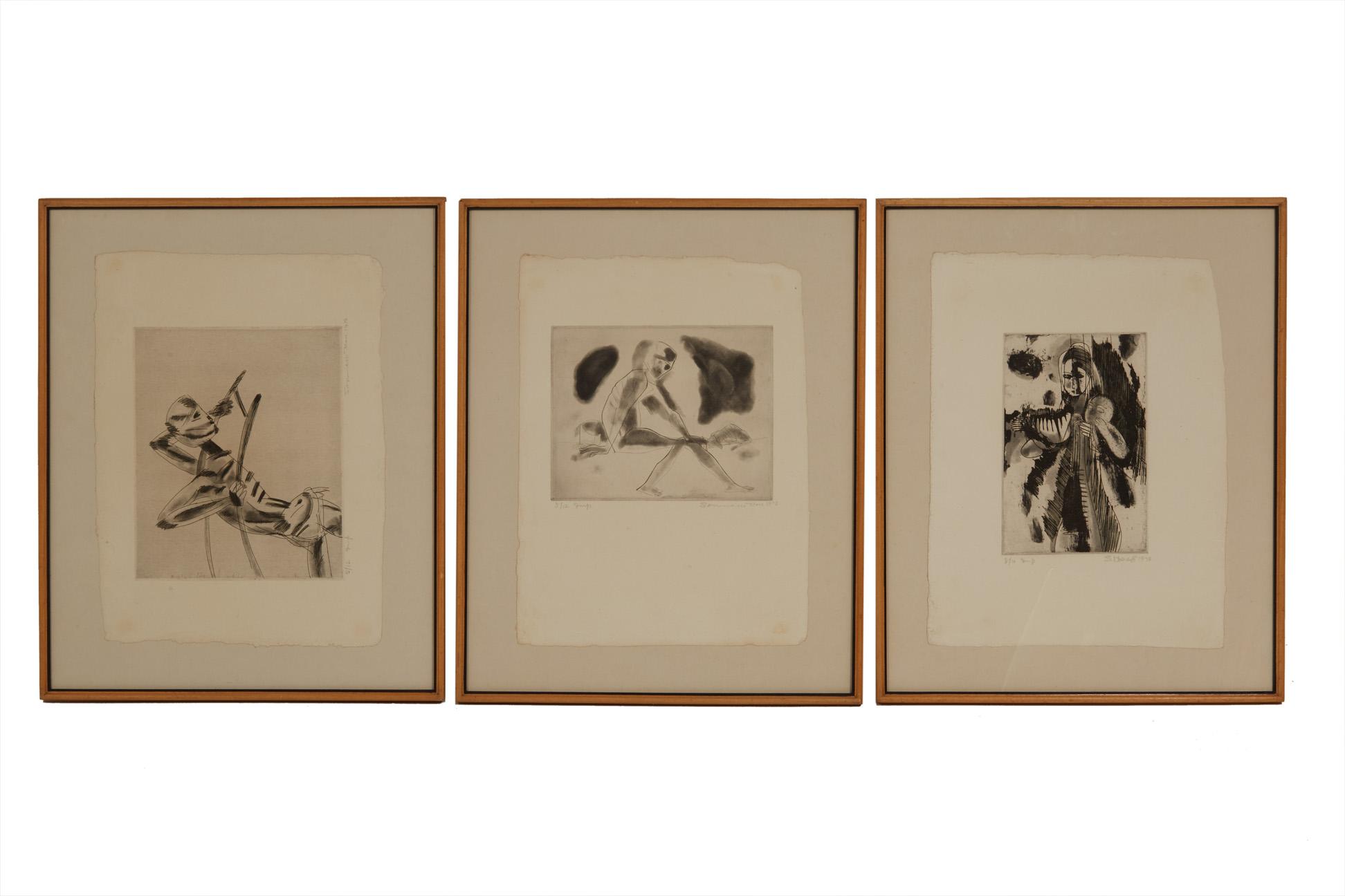 SOMNATH HORE (INDIAN, 1921-2006) - UNTITLED - Image 2 of 5