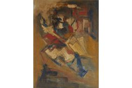 ORIENTAL SCHOOL (20TH CENTURY) - ABSTRACT COMPOSITION