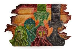 RANU KEDIA (20/21ST CENTURY) - UNTITLED, FIGURES