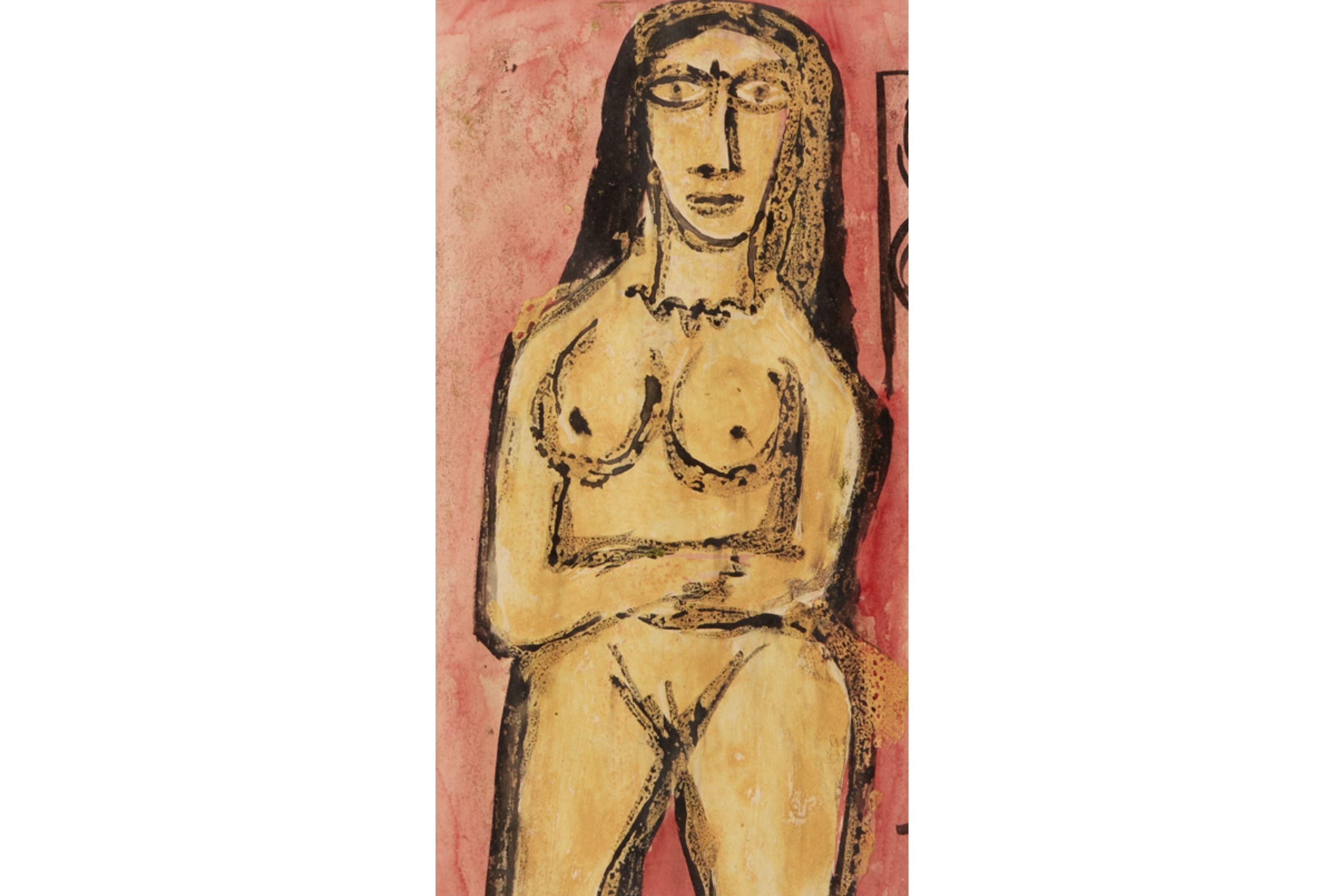 FRANCIS NEWTON SOUZA (INDIAN, 1924-2002) - FEMALE NUDE