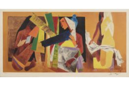 M. F. HUSAIN (INDIAN, 1915-2011) - UNTITLED, FIGURE STUDY