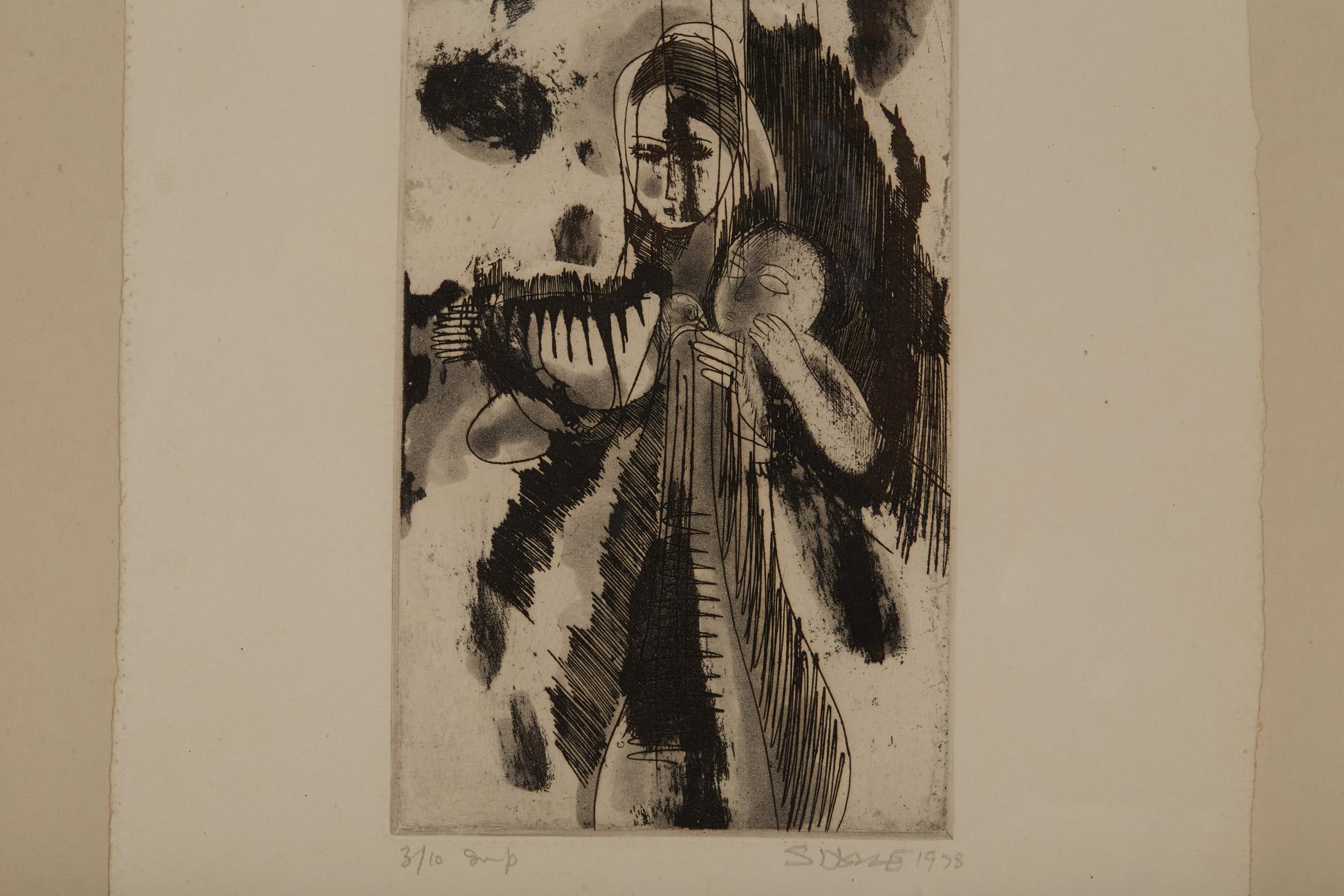 SOMNATH HORE (INDIAN, 1921-2006) - UNTITLED - Image 3 of 5