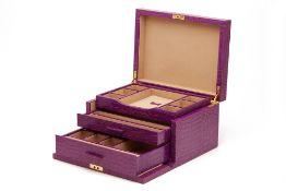 A SMYTHSON JEWELLERY BOX