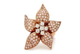 A ROSE GOLD & DIAMOND ORCHID RING