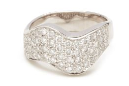 A PAVE DIAMOND RING