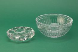 A SAINT-LOUIS ASHTRAY & A MARQUIS BY WATERFORD BOWL