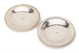 A PAIR OF OTTOMAN SILVER DISHES