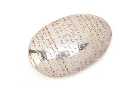 A SILVER PLATED CHRISTOFLE PAPERWEIGHT