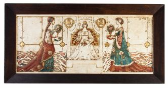 WILLIAM J. NEATBY (1860-1910) - A PAINTED PLASTER PANEL
