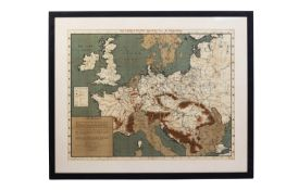 THE LAND & WATER MAP OF THE WAR (1915)