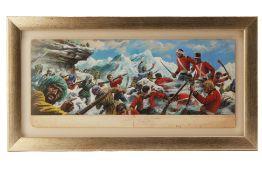 KHYBER PASS 1842 - ORIGINAL COMIC ILLUSTRATION