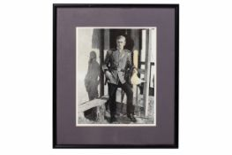 A MICHAEL CAINE SIGNED PHOTGRAPH