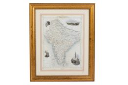 A MAP OF BRITISH INDIA (1851)