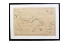 A JAPANESE WARTIME NAUTICAL CHART OF BALI
