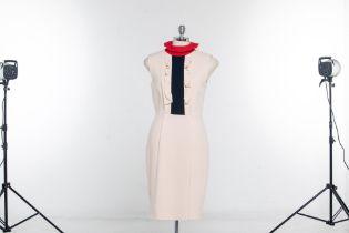 A ROSKANDA ILINCIC SILK SHIFT DRESS