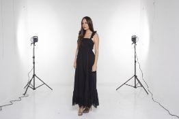 AN APIECE APART 'QUINCE' BLACK DRESS