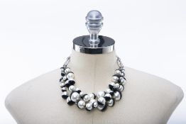 A CHRISTIAN DIOR SIMULATED PEARL 'TRIBAL' NECKLACE