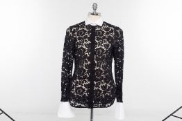 A VALENTINO TWO-TONE LACE SHIRT