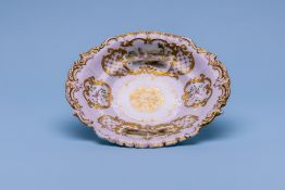 A COPELAND & GARRETT OVAL DISH WITH NAMED VIEWS