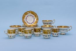 A HAMMERSLEY PART TEA AND COFFEE SERVICE
