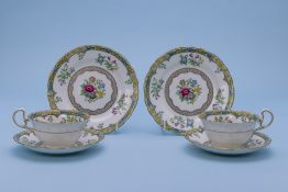 A GROUP OF AYNSLEY AND OTHER TEA WARES