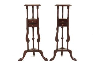A PAIR OF VICTORIAN STYLE PLANT STANDS