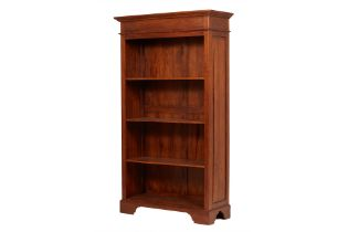AN OPEN SHELVED BOOKCASE (1 OF 2)