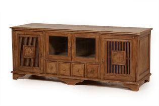 A LARGE RUSTIC SIDEBOARD