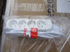 40 x Type F German 4 Way Switched Extension Sockets with CEE7/7 Plug - 8771671