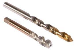 3 x Dormer HSS-E Spiral Flute Tap & Drill Set L002E002M12XA002