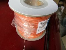 20 reels 100mx XLPE Orange UL3321 Hook Up Wire Cable 0.2 mm² CSA 600V 24AWG H7ML6 8724388