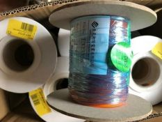 20 reels 100m x Orange XLPE UL1385 Hook Up Wire Cable 26AWG - H9R6 8918722