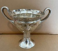 An Edwardian Arts and Crafts Silver Twin Handled Cup, George Nathan & Ridley Hayes, Chester 1907.