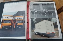 Vintage Album of Photographs of Lorries and Vans c1970s by Stag Photographers Aberdeen.