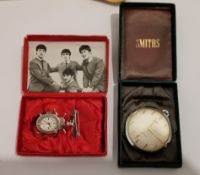 "Vintage Boxed ""The Beatles"" Beetle Watch in an working condition by Smiths plus other."