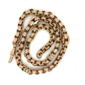 Antique 9ct Gold Watch Chain - 43.5cm long and weighing 28 grams.