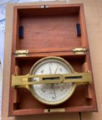"Antique Cased Miner's Dial by Cary London - 7 1/2"" x 4 3/4""."