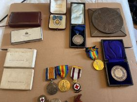 Family Group of Medals to the Tarras Family - VAD - RAF - RA - RNLI etc.