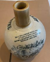 """Antique Auld Lang Syne Whisky Flagon - 8 1/2"""" tall and approx 6"""" at the widest."""