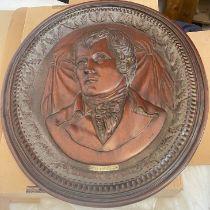 "Antique Robert Burns Carved Mahogany Plaque by a A.J.L.Tayt 1890 - 24"" x 21"" x 1 1/2"""