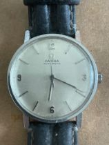Vintage Omega Stainless Steel Gents Automatic Watch - case aprpox 33mm diameter.