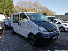 05/05 VAUXHALL VIVARO 2900 CDTI 82 SWB - 1870cc Van (White, 187k)