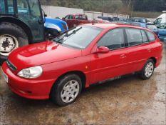 02/02 KIA RIO LX AUTO - 1343cc 5dr Hatchback (Red, 55k)