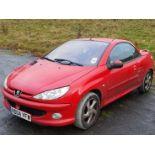 04/04 PEUGEOT 206 CC - 1587cc 2dr Convertible (Red, 72k)