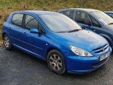 03/03 PEUGEOT 307 RAPIER 16V - 1587cc 5dr Hatchback (Blue, 130k)