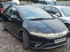 06/56 HONDA CIVIC SE I-CTDI - 2204cc 5dr Hatchback (Black, 187k)