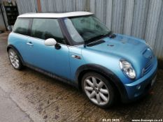 03/03 MINI MINI COOPER - 1598cc 3dr Hatchback (Blue, 89k)