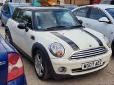 07/07 MINI COOPER - 1598cc 3dr Hatchback (White, 96k)